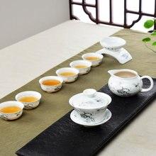 Multi Style Kreative 9 stücke/12 stücke Hohl Jingdezhen Tee-Set Blau und Weiß keramik Teekanne Cha Hai Gaiwan Tee Tassen Kung Fu Tee-Set