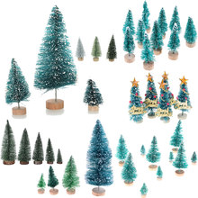 New DIY Mini Christmas Tree Small Pine Tree Placed In The Desktop Home Decor Christmas Party Decoration Kids Gifts For Home Xmas(China)