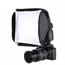 Set-top lamp soft light box 23X23cm portable flash soft cover foldable Diffuser for 580EX for Canon Nikon Pentax Soft box Cover(China)