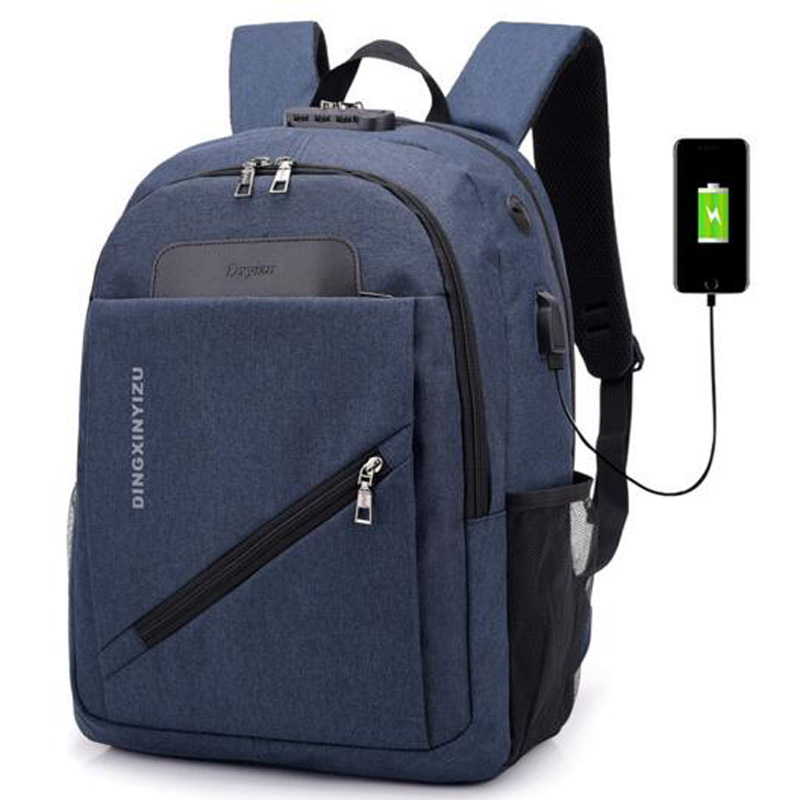 5e201b3f0049 Casual Boys Girls Schoolbag Women Men Work Office Travel Backpack Laptop  Ipad Shoulder Bag mochila Password Lock Bags-in Backpacks from Luggage    Bags on ...