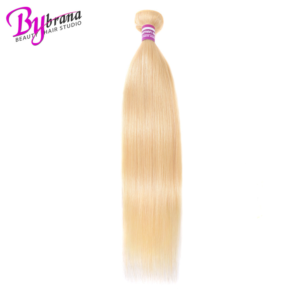Bybrana 28 32 42 50 Inch 613 Straight Bundles Non Remy Hair Honey Blonde 40 Inch Brazilian Hair 613 Bundle Hair Extension