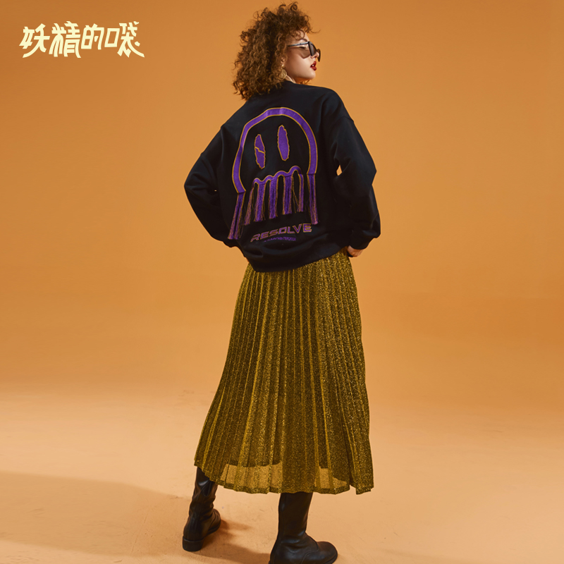 ELFSACK Autumn New Woman 2 Pieces Set Women Casual Long Sleeve O-Neck Women Pullovers And Knee-Length Solid Femme Skirts