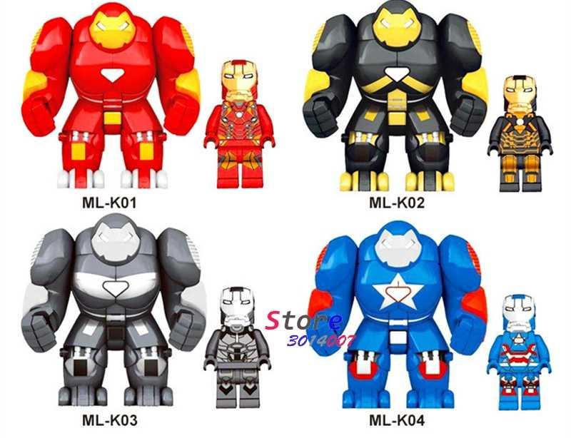 MR298 Hulk Buster Hulkbuster Besar Besar Iron Man Koleksi Seri Bangunan Blok Anak-anak Hadiah Batu Bata Mainan untuk Anak Juguetes