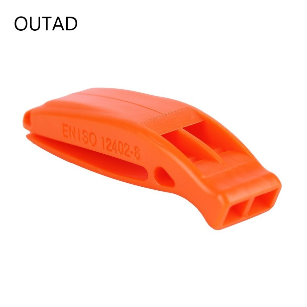 New Trendy Non-corrosive Portable Outdoor Survival Rescue Plastic Loud Whistle With Built In Clip Durable Lightweight Souvenir
