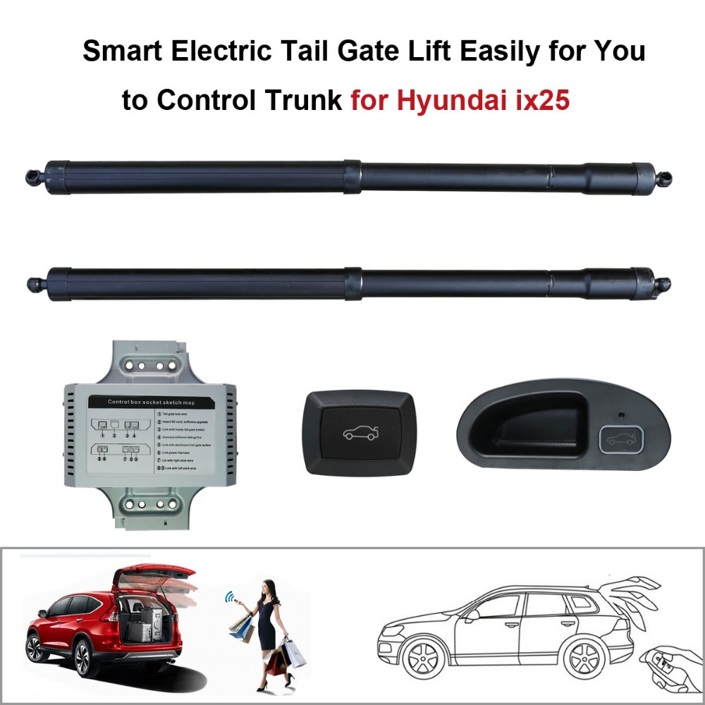 Smart Electric Tail Gate Lift Easily for You to Control Trunk Suit to Hyundai ix25 Hyundai Creta Control by Remote and Buttons коврики в салонные ниши синие ix25 для hyundai creta 2016