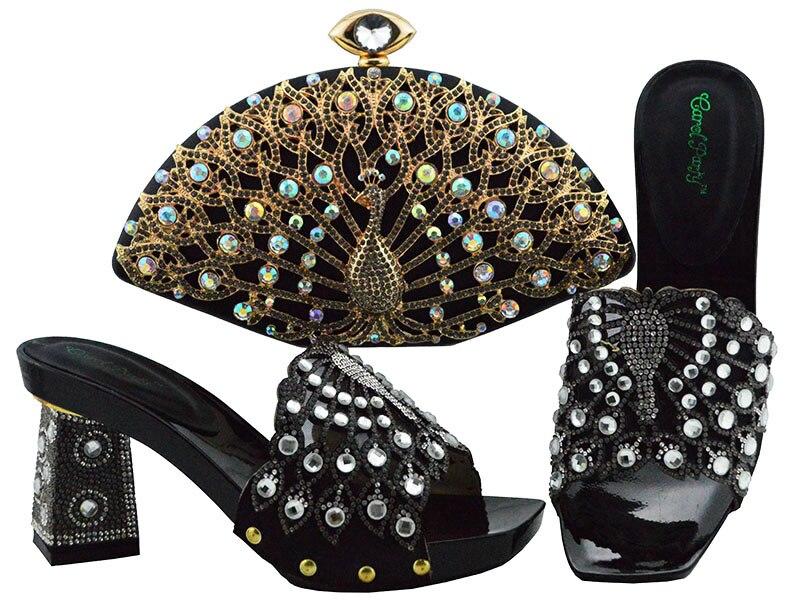 Et Italien Chaussures Correspondant Dames Bleu Sac Femmes Ensemble Strass Royal Avec Décoré De Nouvelle Arrivée Italiennes Africain Tqpzzx