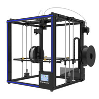2018 Mais Recente Impressora Tronxy 3D X5ST-2E Grande Impressão Size330 * 330*400mm cor Misturada Dupla porta de Alimentação 3d moldura de Metal da impressora