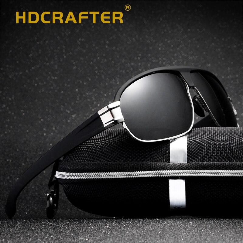HDCRAFTER 2018 pilot sunglasses men polarized uv400 high quality male sun glasses retro vintage driving