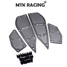 For YAMAHA XMAX X-MAX 300 XMAX 250 2017 -2018 Motorrad Accessoris xmax mats CNC footrest footpads Aluminum alloy pedal plate new motorcycle foot pegs for yamaha xmax 300 2017 2018 x max 250 300 footrest step pedal foot plate blue gold black red titanium