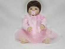 """22 '' בתוך שמלת נסיכה יפה Reborn תינוק בובות מלא סיליקון גוף 55 ס""""מ בובה ויניל מלא בנות נולד צעצועים מתנה לילדים"""