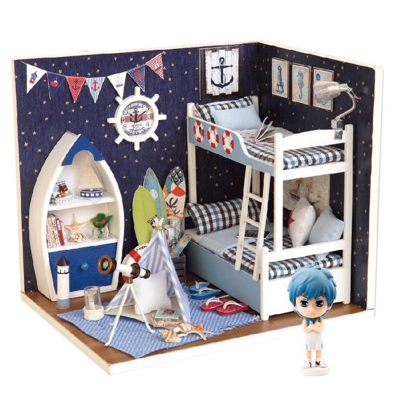 Dollhouse Miniature DIY Kit Spielzeug w Möbel Handwerk Eisdiele Geschenk Puppenstuben & -häuser
