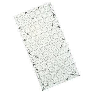 1 قطعة 30*15 Cm خليط حاكم اللحف أدوات عالية الجودة مادة الاكريليك شفافة حاكم مقياس المورد المدرسة