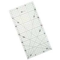 1 Pza 30*15 Cm rule Patchwork Quilting Tools alto grado acrílico Material regla transparente escala escuela Supplie
