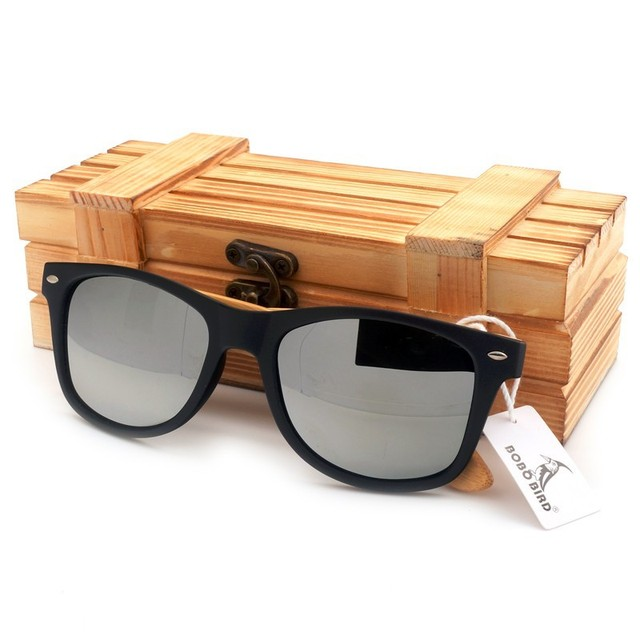 2016 New Gifts Men's Sunglasses Bamboo Legs Polarized Lens Sun Glasses With Wood Gift Boxes Cool Sunglasses for Friends