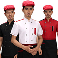New chef clothing short-sleeved hotel men and women after kitchen clothing restaurant kitchen chef uniforms summer half-sleeved