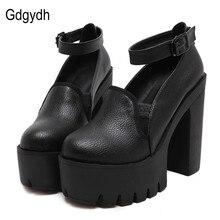 Gdgydh Primavera Moda Tacones Altos Zapato con Cierre de Bombas de Las Mujeres 2017 Nueva Mujer Zapatos de Plataforma Gruesos Zapatos de Tacón Alto Ocasional Stella