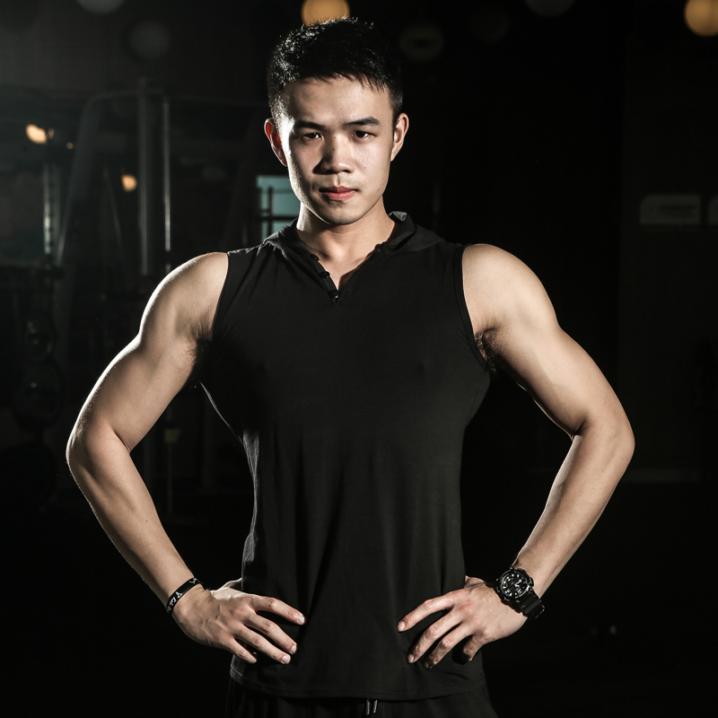 Summer gyms Fitness Hooded   Tank     Top   mens Muscle breathable Cotton Hombre Singlet Workout   Tanks     Top   Sleeveless Shirt Solid Vest