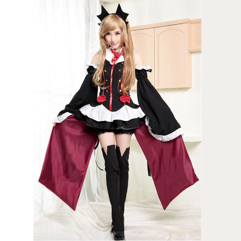 Anime Seraph of the End Vampire Reign Krul Tepes Cosplay Costume girls Anime Exhibition stage clothes Halloween Dress Full Set