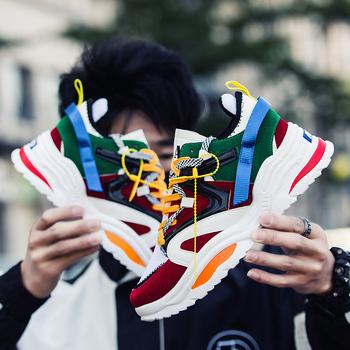 BomKinta moda list dekoracji przypadkowi buty mężczyźni Fly tkania męskie buty do chodzenia oddychające sneakersy mężczyźni odkryty obuwie męskie tanie i dobre opinie Mesh (air mesh) Szycia Mieszane kolory Dla dorosłych Wiosna jesień 19-06-24-02 Lace-up Niska (1 cm-3 cm) Pasuje prawda na wymiar weź swój normalny rozmiar