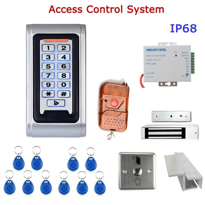 Contrôleur de système de contrôle d'accès de porte étanche IP68 boîtier en métal lecteur RFID clavier télécommande serrure magnétique