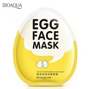 BIOAQUA 5 pcs Egg Facial Masks Skin Care Wrapped Mask Oil Control Brighten Tender Moisturizing Face Mask moisturizing mask masks avene c54571 skin care mask strengthen moisturizing nutrition facial