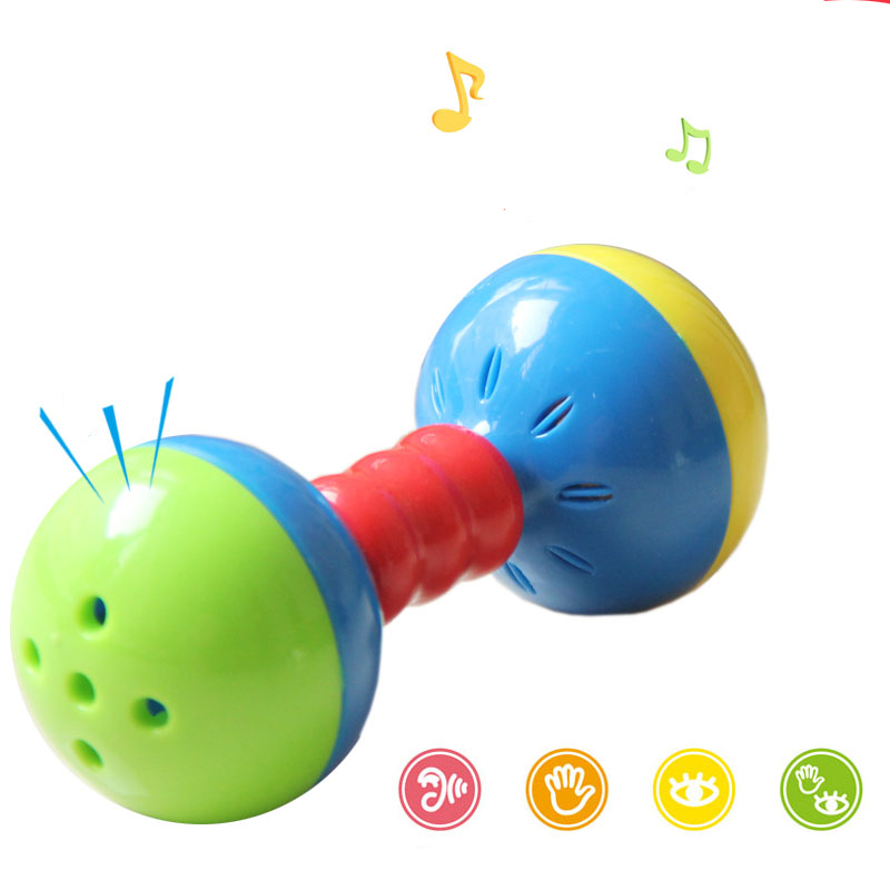 Baby Toy Rattles Bells Shaking Dumbells Early Development Toys 0-12 Months