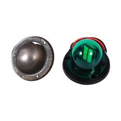 1 пара из нержавеющей стали LED лук навигационный свет стробоскопы красный зеленый световой сигнал для морской лодки 12В