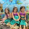 Cosplay Traje de cola de Pescado Princesa Ariel Falda Juegos de Los Niños traje de Baño traje de Baño de La Sirena Verde De Lujo Caliente Juegos de Los Niños para La Muchacha