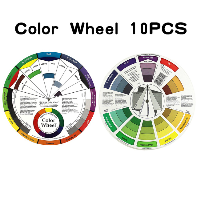 10 Set Usa Biotouch Micro Pigment Color Wheel Guide To Mixing Color