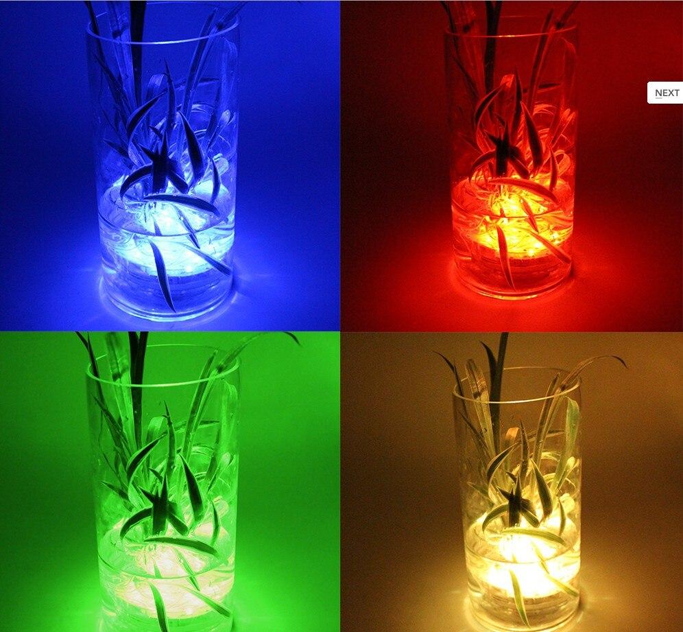 1pc LED multi couleur submersible étanche base de vase de fête de - Éclairage festif - Photo 3