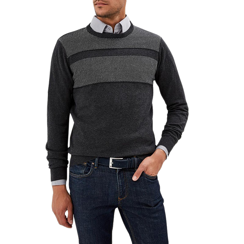 Sweaters MODIS M182M00093 jumper sweater pullover for male for man TmallFS beige cable pattern off shoulder pullover sweater