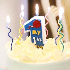 Image 5 - Bougies à gâteau courbe colorées 8 pièces/lot