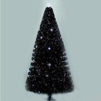 2.1 메터/210 센치메터 암호화 다채로운 발광 섬유 크리스마스 트리 LED 플래시 트리 크리스마스 쇼핑몰 매장 장식