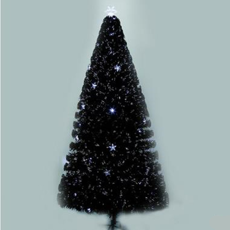 2.1 M/210 CM cryptage coloré émettant de la lumière fiber arbre De Noël flash LED arbre De Noël center commercial magasin décoration