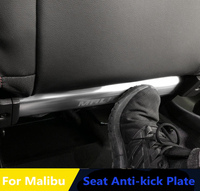 Interior Rear Seat anti kick plate anti scratch pad stainless steel trim 2pcs For Volkswagen VW Malibu 2012 2018