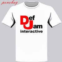 New Def Jam Recordings Interactive Music Logo Men S White T Shirt Size S 3XL