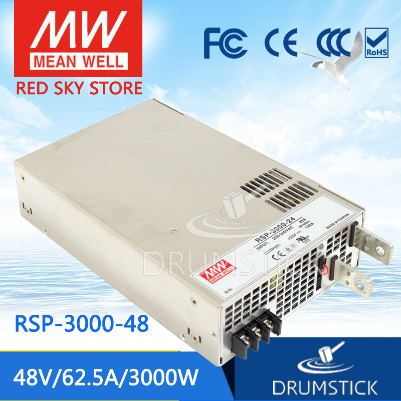 (12.12)MEAN WELL RSP-3000-48 48V 62.5A meanwell RSP-3000 48V 3000W Single Output Power Supply selling hot mean well rsp 1500 5 5v 240a meanwell rsp 1500 5v 1200w single output power supply