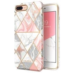Dla iphone 7 8 Plus etui i-blason Cosmo Lite stylowe hybrydowe Premium ochronne  wąskie etui marmurkowe z ochroną aparatu