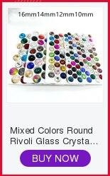 100 piezas 6mm ~ 14mm láser Placa de Vidrio Color Facetado Vidrio Rivoli Joyas