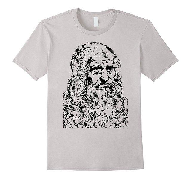 Gray Leonardo Da Vinci T-Shirt,