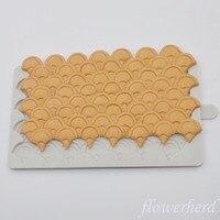 1 шт русалка весы формы DIY Русалка торт форма для фонданов, шоколада силиконовые формы для приготовления конфет плесень устройство для выпеч...