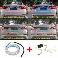 DRL LEDs Daytime Running Light Strip Trunk Light With Side Turn Signals Rear Lights Car Braking