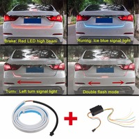DRL LEDs Daytime Running Light Strip Trunk Light With Side Turn Signals Rear Lights Car Braking