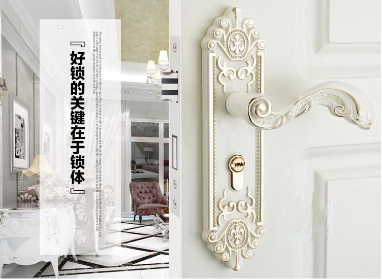 European simple wooden door look Antique locks zinc alloy indoor handle lock Bedroom door lock гилберт честертон father brown stories