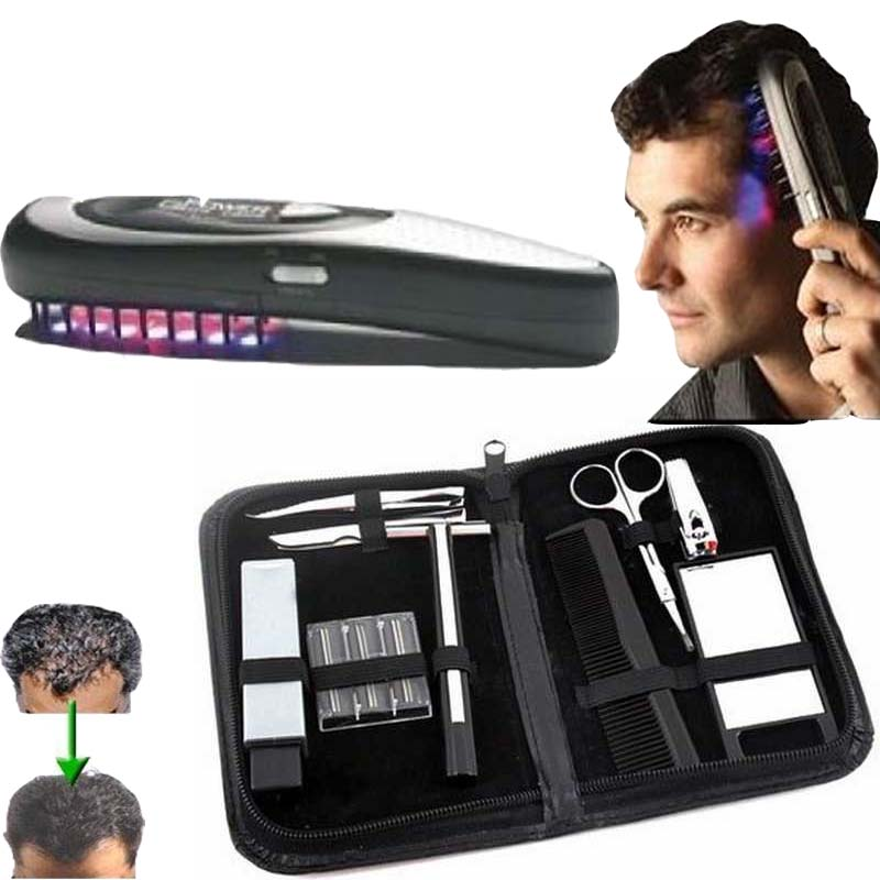 head Laser massage brush comb massager head hair grow laser M Kit Power Grow Laser Cure Loss Therapy Laser Hair Comb tools laser hair growth comb 6 color led light micro current for hair massage remove scurf n repair hair hair loss