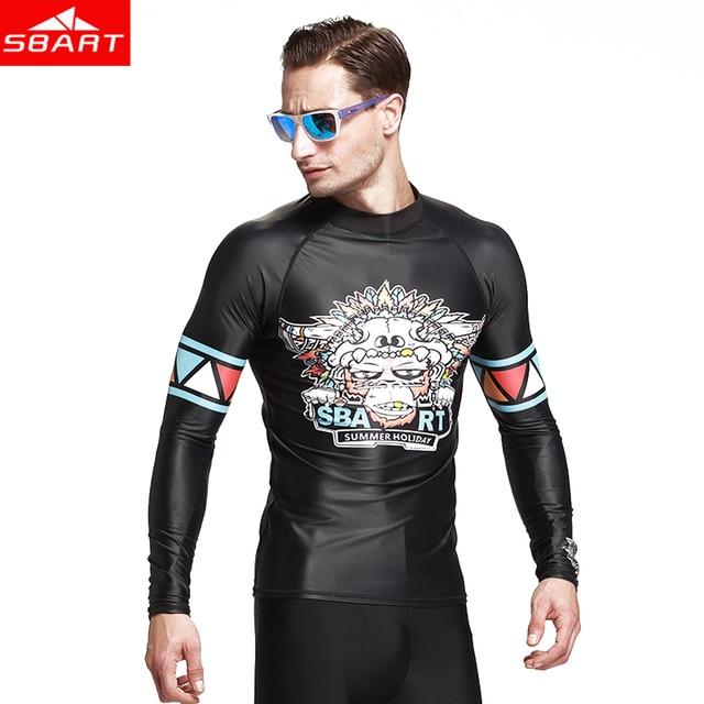 Surf Manga Hombre Para Ropa Camiseta Baño Camisa Playa Camisetas Sol Protección Traje Medusas De La 2019 Larga IWDE29H