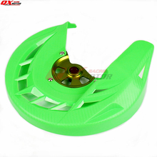цена на Front brake disk protective cover KX125 KX250 KXF250 KXF450 KLX450R Dirt Bike MX Motocross Off Road  Motorcycle Free shipping