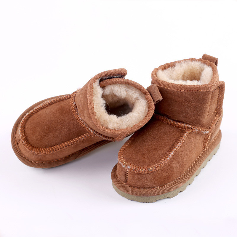 2018 Hot Girls & Boys Shoes Childrens Sheepskin One Handmade Non-slip Fashion Martin Boo ...
