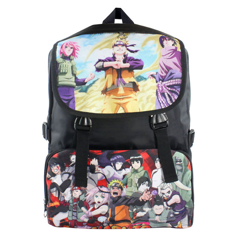 Anime Naruto Shippuden Uzumaki Naruto/Itachi/Sasuke etc Waterproof Laptop Backpack/Double