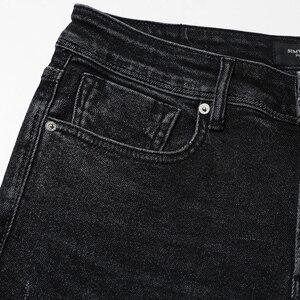 Image 4 - SIMWOOD 2020 printemps hiver nouveau jean hommes coupe ajustée mode trou Denim maigre déchiré pantalon grande taille décontracté NC017015